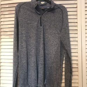 Eddie Bauer men's 1/4 zip free heat pullover